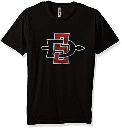 NCAA San Diego State Aztecs Men's Tri Blend Short Sleeve Tee, Vintage Black, Large (San Diego State University Colors And Mascot)