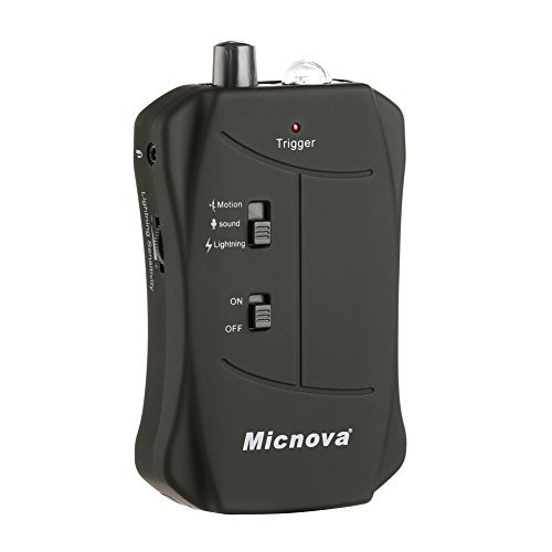 Micnova MQ-VTN Trigger with Motion Triggering Mode Lightning Triggering Mode Sound Triggering Mode Compatible for Nikon DSLR Cameras