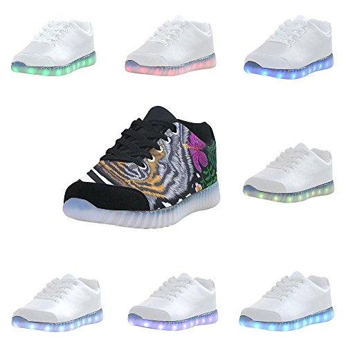 Sneakers Moda D-story Con Alate Occhio Illuminano Le Scarpe Da Donna Multicoloured51