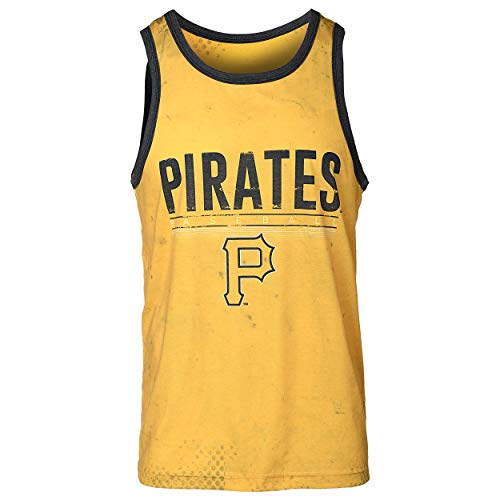 FOCO MLB Pittsburgh Pirates Big Logo Half Tone Tank - Mens Large (Pittsburgh Pirates Tshirts Mens)