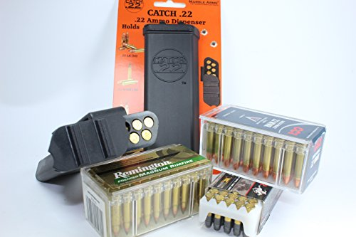 Catch 22 Ammo Carrier, Belt Clip, Holds 50 Rounds of .22 Long Rifle, 70 Rounds of .22 Short or 30 Rounds of .22 Magnum ()