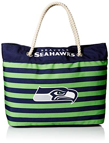 Seattle Seahawks Nautical Stripe Tote Bag