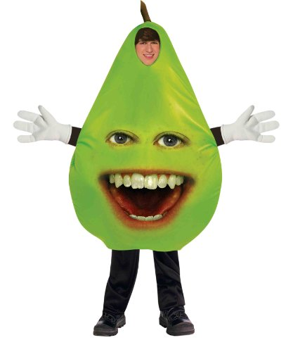 Forum Annoying Orange Pear Teen Costume, Green, One Size