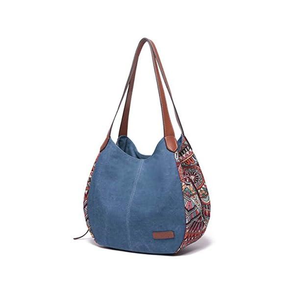 Sac à bandoulière pour les femmes, Bernice Bohemia Sacs portés épaule, grande capacité toile Floral sac à main Totes…