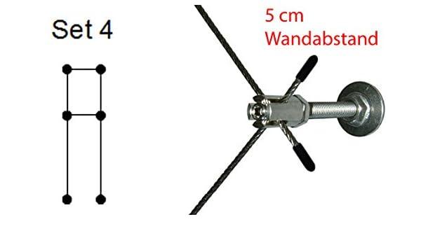 Pérgola RH05 - Juego 4 - Acero inoxidable Cuerda 8 m, 6 x ...