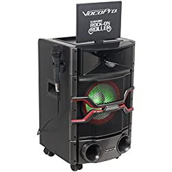 "VOCOPRO KARAOKE ROCK-ON ROLLER DVD System with Giant 10"" Display Monitor & Lightshow Speaker"