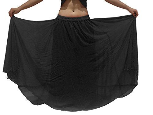 Belly 6m Fino A 8 Britannico 24 Scegli Viola Xxl Nero Gonna Adatto Costume 10 Formato Ondulate Dance Orlato Lunghezza S xqXRnwYnF