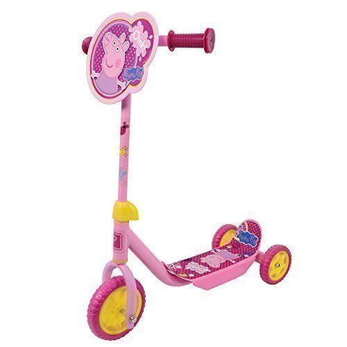 Girls Peppa Pig My First Tri-Scooter Adjustable Anti-Slip 3