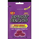 Jelly Belly Sport Beans Variety Pack 1 Oz (28g) - Pack of 24 - Berry, Fruit Punch, Lemon Lime & Orange (6 Packs of Each Flavor) Naturally Flavored with Jarosa Bee Organic Peppermint Lip Balm (Boxed)