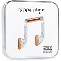 Happy Plugs 7781 Earbud, White Marble Rose