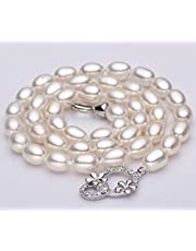 6-7mm natural pearl necklace-white
