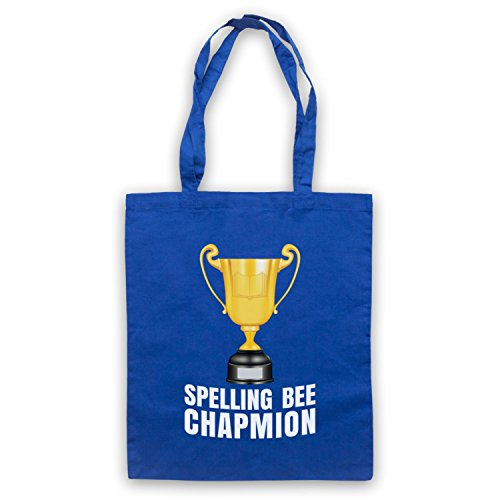 My Icon Art & Clothing Spelling Bee Chapmion Funny Bad Spelling Champion Parody Bolso Azul Real