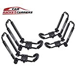 Car Rack & Carrier Universal Kayak Carrier Car Roof Rack Set of Two J-Shape Foldable Carrier for Canoe, SUP and Kayaks Mounted on Your SUV, Fits Most Size Crossbar (2 Set)