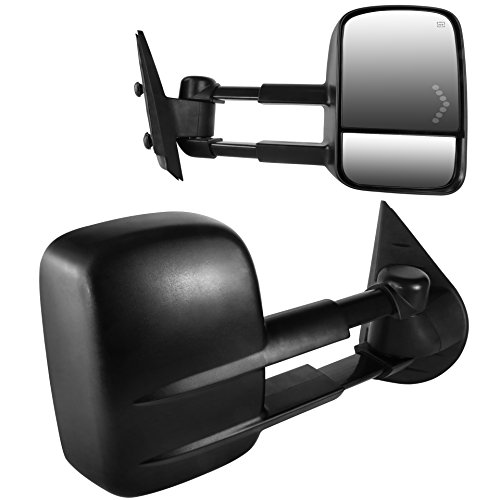 Silverado Used Chevy 2500 - DEDC Towing Mirrors Chevy Tow Mirrors Fit for 2007-2013 Chevy Silverado 1500 2500 3500 GMC Sierra Power Heated with Arrow Led Light
