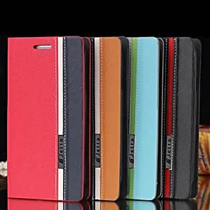 PEACH Assorted Color PU Leather Full Body Case with Stand and Card Slot for iPhone6 (Assorted Colors) , Gray