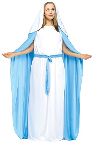 Adult Mary Costume (Fun World Costumes Women's Adult Mary Costume, Blue,)