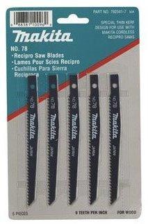 Makita 7925417 4-3/4'' 9 Tpi Wood Cutting #78 Reciprocating Saw Blade