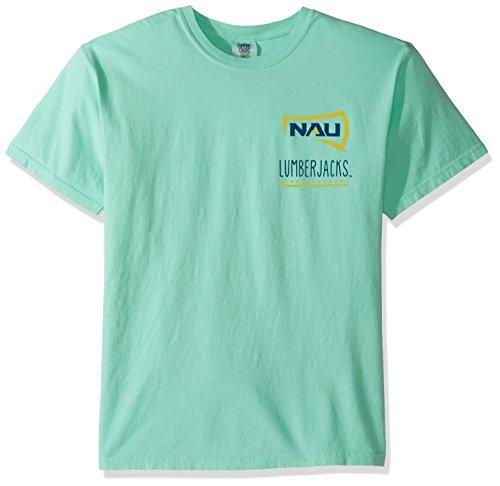 Image One NCAA Northern Arizona Lumberjacks Life Is Better Comfort Color Short Sleeve T-Shirt, Island Reef,IslandReef