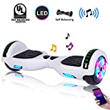 CBD 6.5' Hoverboard w/Bluetooth Speaker, Self Balancing Hoverboard for Kids with LED Lights, UL 2272 Certified(Ultimate White)