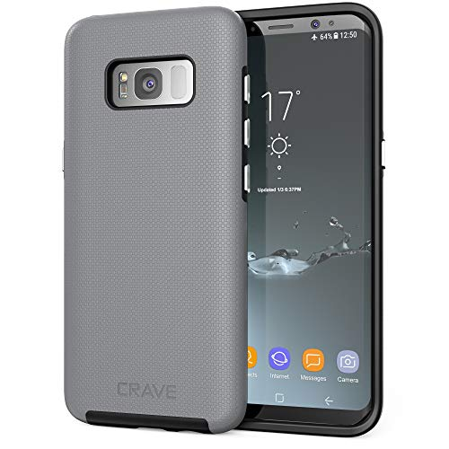 Crave S8 Case, Dual Guard Protection Series Case for Samsung Galaxy S8 - Slate