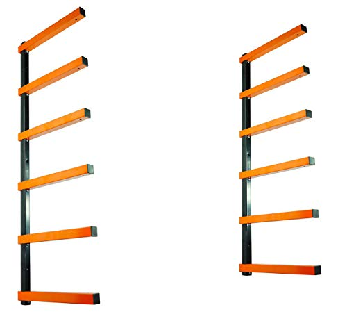 KASTFORCE KF1006 Lumber Storage Rack 6-Level System 110 lbs per Level with Durable Sheet Metal Screws, Wood Rack, Workshop Rack ()