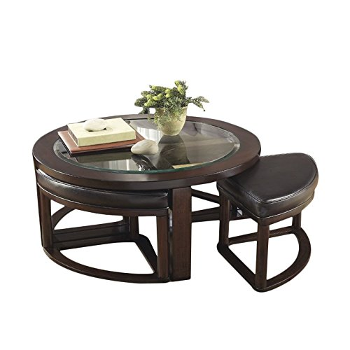 (Ashley Furniture Signature Design - Marion Contemporary Coffee Table - Cocktail Height - Dark Bown)
