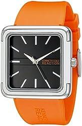 Kenneth Cole REACTION Unisex 10014696 Street Analog Display Japanese Quartz Orange Watch