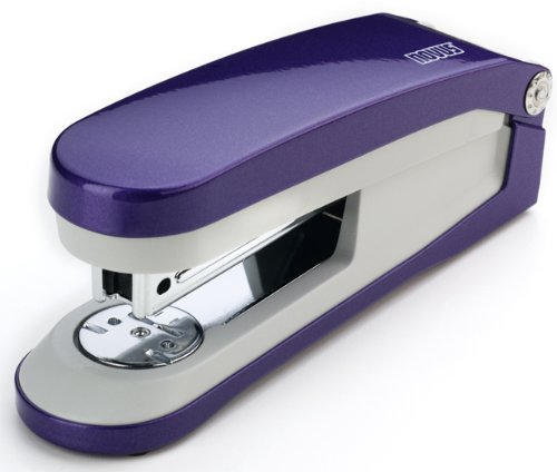 Novus E 30 30 Sheet Capacity Pearl Effect Stapler with Integrated Staple Remover - Plum/Grey (Integrated Effects)
