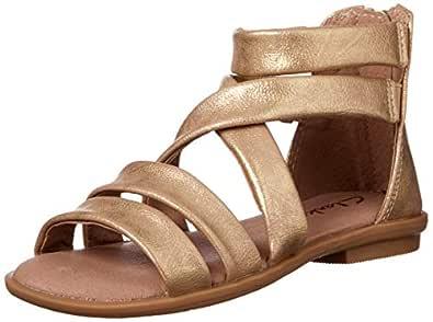 Clarks Girls' Holly II Fashion Sandals, Gold Distress, 33 EU (1 AU)