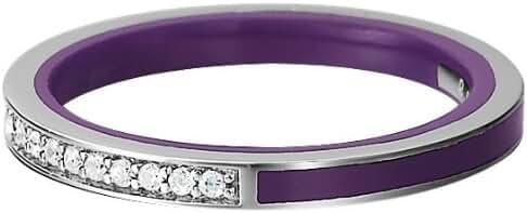 ESPRIT Women's Glam Purple Silver Marino Ring Sterling Silver 925/1000 1.8 G Zirconium Oxide