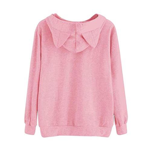 Rose Des Manches Sweatshirt Sweat Court La Capuche Molleton Mode Alian En À Femmes Imprimé Longues wB6xYqUx
