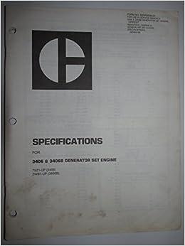 Caterpillar 3406 & 3406B Generator Set Engine Specifications
