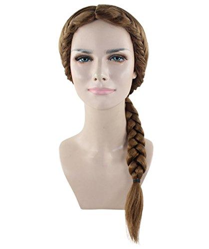 Halloween Party Online Renaissance Braid Wig, Brown Adult (Renaissance Man Wig)