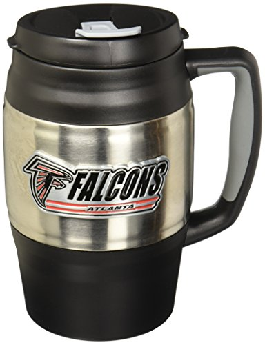 NFL Pittsburgh Steelers Macho Stainless Steel Travel Mug, 34-Ounce
