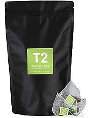 T2 Tea Gorgeous Geisha Green Tea Bags in Resealable Foil Refill Bag, 60-Count