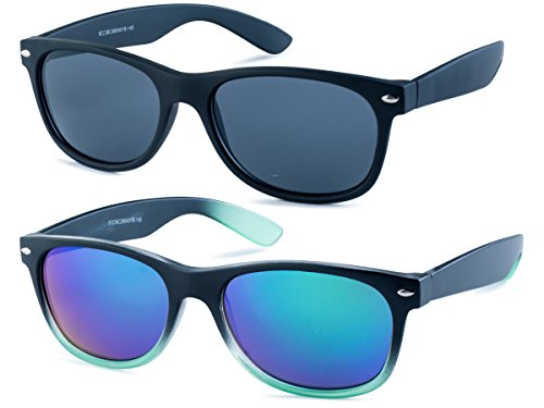 Matte Black Frame/Grey Lens and Matte Black and Green Gradient Frame/ Green Mirror - Wayfarers Fake