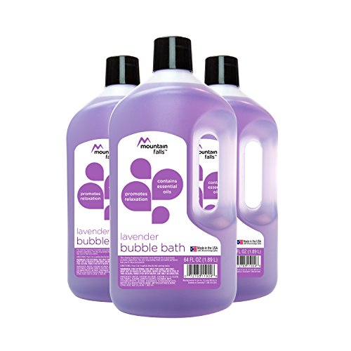 Mountain Falls Bubble Bath with Essential Oils, Lavender, 64 Fluid Ounce (Pack of 3) by Mountain Falls