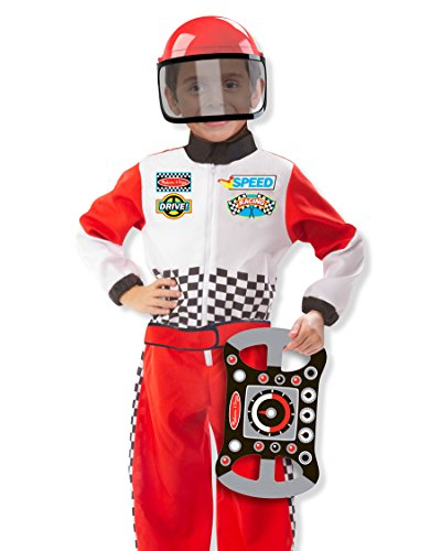 Race Car Driver Outfit (Race Car Driver Role Play Costume Set, Imaginative Toys, 2017 Christmas Toys)