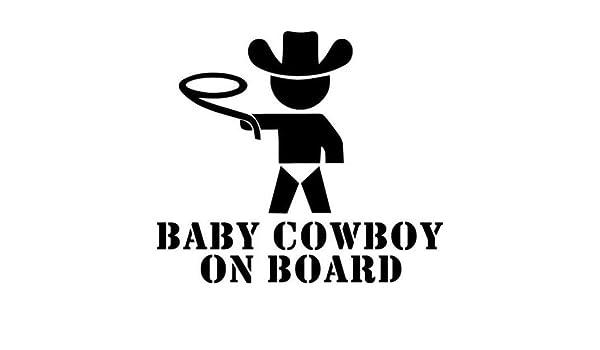 Maple Enterprise Baby Cowboy On Board Die Cut Vinyl Decal