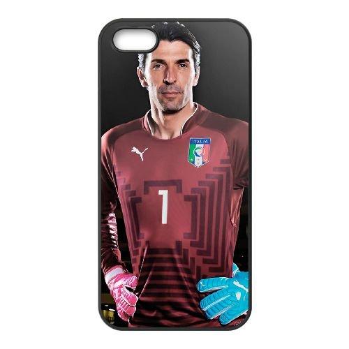 Gianluigi Buffon coque iPhone 4 4S cellulaire cas coque de téléphone cas téléphone cellulaire noir couvercle EEEXLKNBC25266