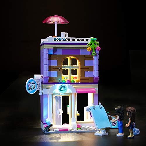 Juego de luces LIGHTAILING para el modelo de bloques de construcción (Friends Emma's Art Studio) - Kit de luces LED Compatible con Lego 41365 (NO incluido el modelo)