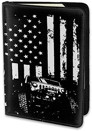 Jeep ジープアメリカンフラッグ パスポートケース パスポートカバー メンズ レディース パスポートバッグ ポーチ 携帯便利 シンプル 収納カバー PUレザー収納抜群 携帯便利 海外旅行 出張 小型 軽便