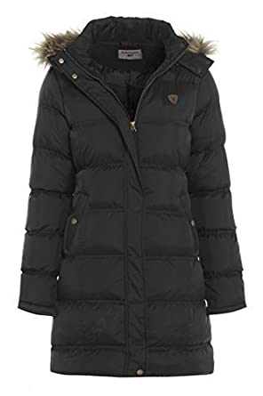 Girls Quilted Parka Coat, Ages 7 to 13: Amazon.co.uk: Clothing
