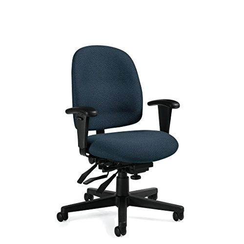 Ergonomics Chair – Granada Low Back Multi-Tilter Ergonomic Computer Chairs in Dark Blue