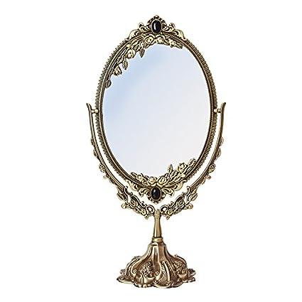 Amazon Com Li Na Home European Retro Makeup Mirror Desktop Double