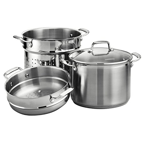 Tramontina Gourmet Tri-ply Base Stainless Steel 4-Piece 8-Quart Multi-Cooker by Tramontina
