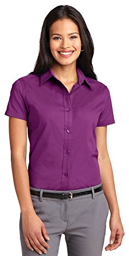 Mujer Port Para Authority Morado large Camisas X fqn8wR