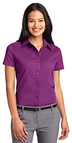 X Morado Port Para Mujer Camisas large Authority gUq4cp1nUv