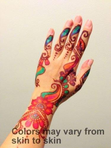 Buy Combo Of Body Art Temporary Tattoo Mehendi Henna Cones With