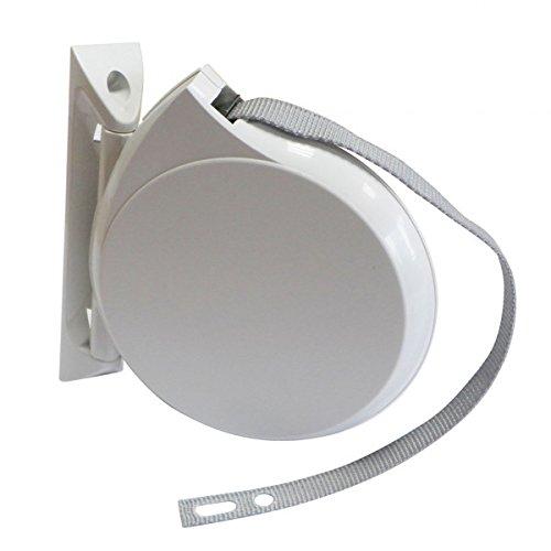 Enrouleur de sangle orientable blanc avec 5 mè tres de sangle 12 mm ZURFLUH-FELLER